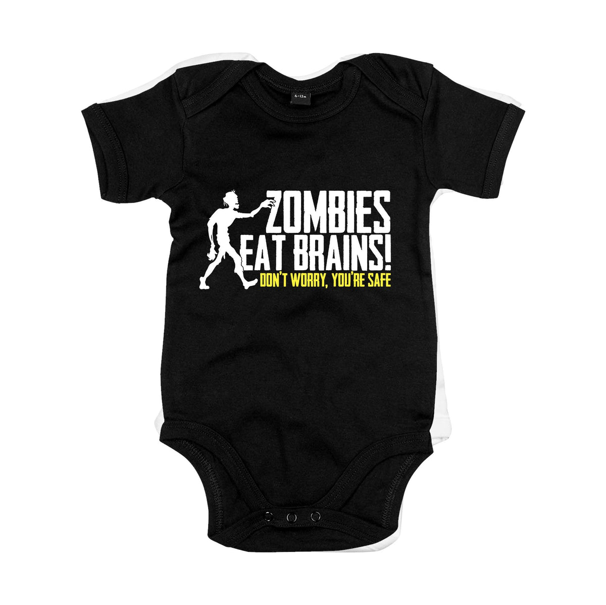 Zombies Eat Brains Primate Novelty Baby Vest 0-3 Months