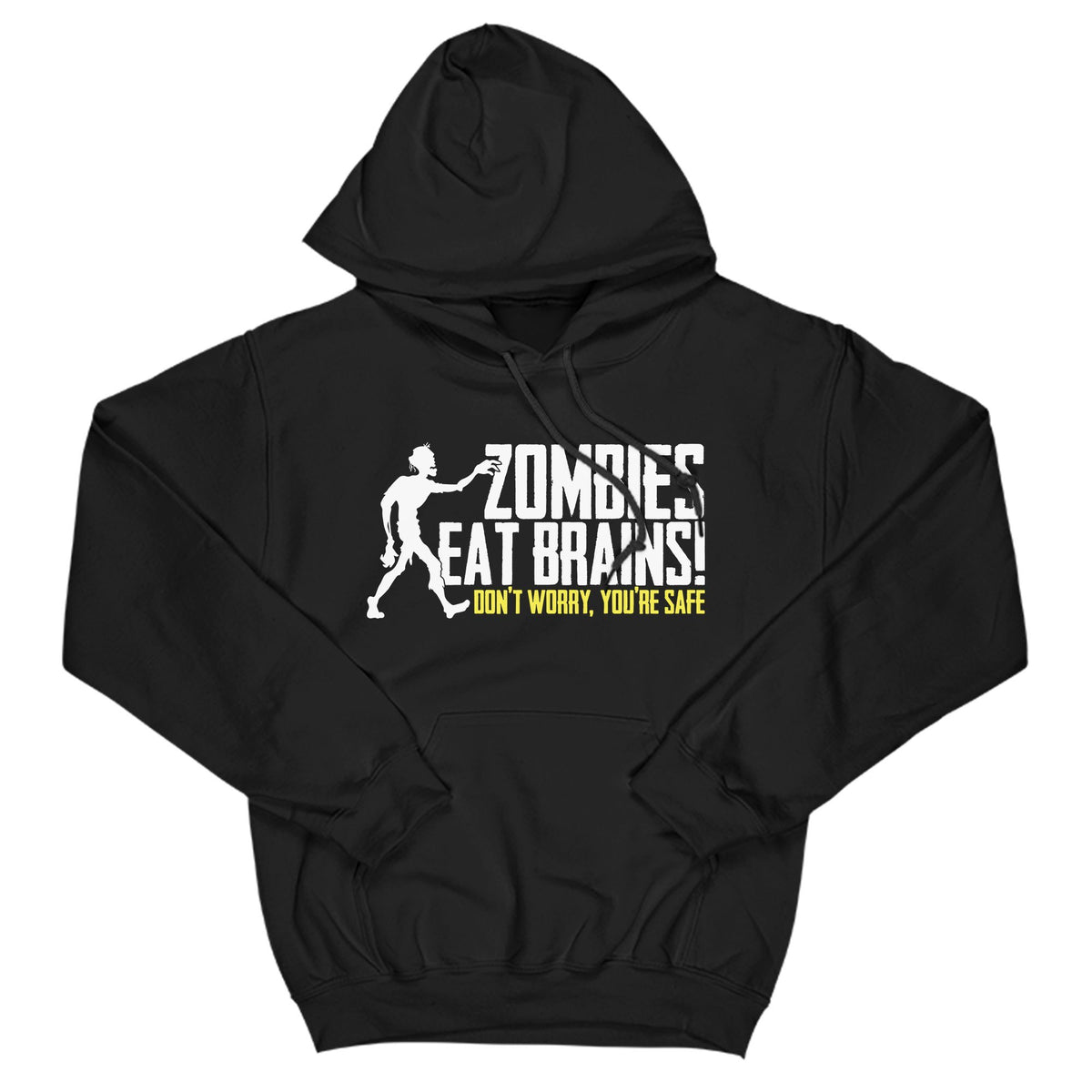 Zombies Eat Brains Primate Novelty Hoodie Adults: S