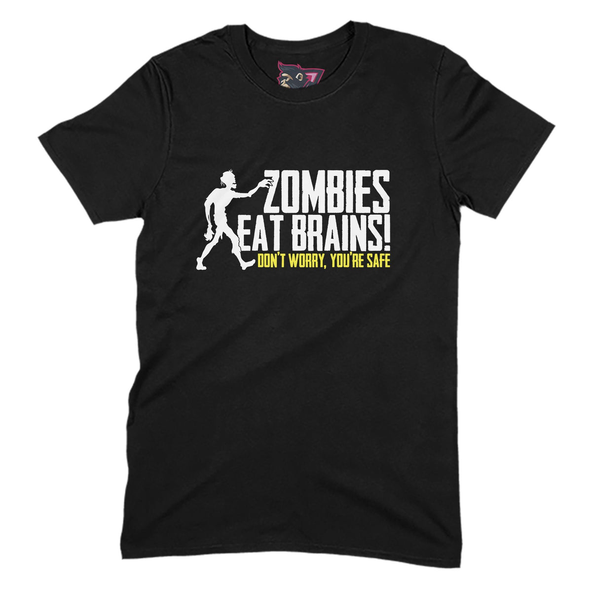 Zombies Eat Brains Primate Novelty Unisex T-Shirt Adults: S
