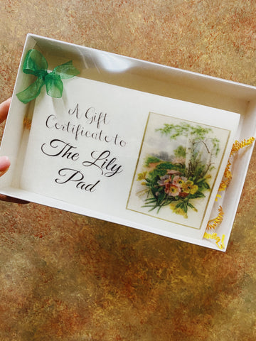 Lily Pad Gift Certificate - $150