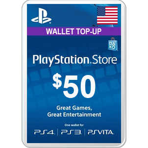 50$ PSN GIFT CARD US