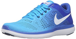 NIKE Women's Flex 2016 RN Running Shoe, Blue Glow/White/Racer Blue/Midnight Navy, 8 B US