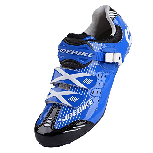 Smartodoors Women's Men's MTB Road Bike Cycling Shoes SD-001 (Blue Road, US13/EU46/Ft29cm)