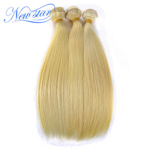 Brazilian Blonde Straight #613 Remy Hair 3 Bundles Extension 100% Human Hair Weaving Guangzhou New Star Thick Hair Products