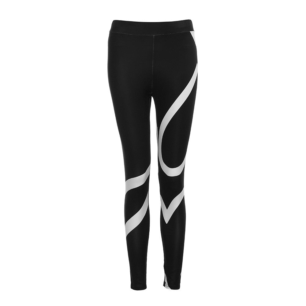 Womens Splice Yoga Skinny Workout Gym Leggings Fitness Sports Cropped Pants