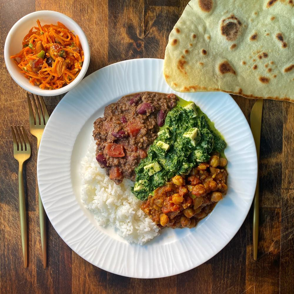 Week of June 19: Palak Paneer, Chana Masala, Dal
