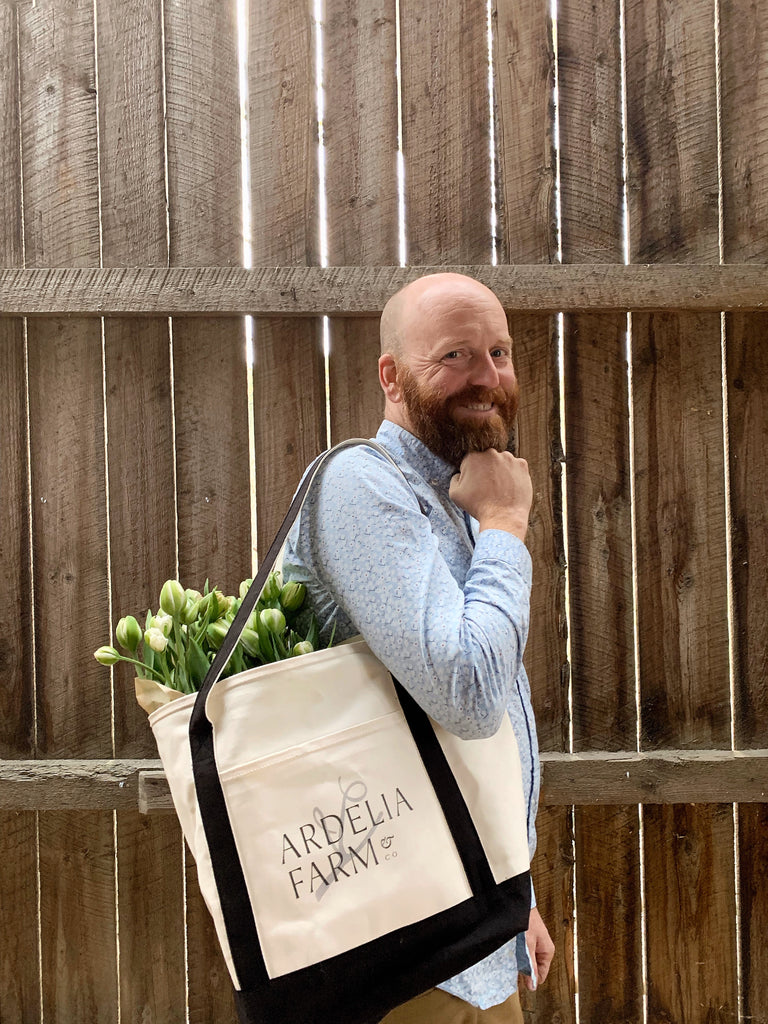 Ardelia Farm White Tote Bag