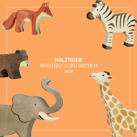 Holztiger Monthly subscription box in Large (5 animals)