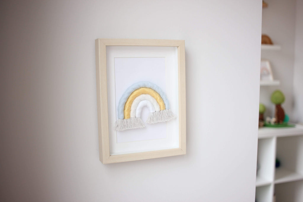 Baby rainbow in Popsicle framed