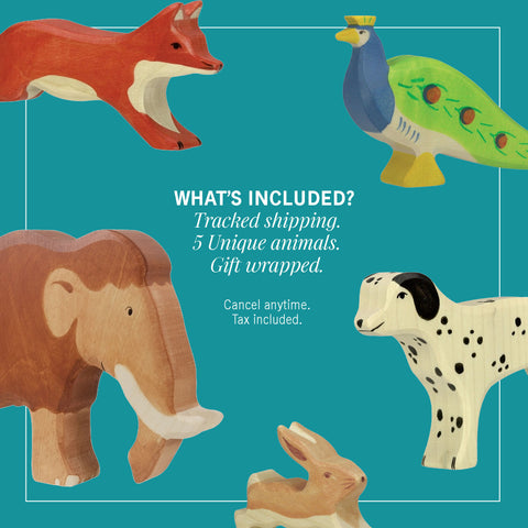 Holztiger Large subscription box - includes 5 animals and shipping