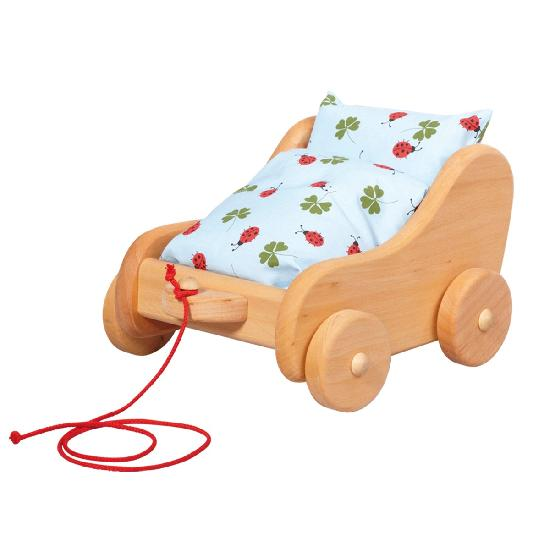 Gluckskafer - Doll - Wood Pram, Small
