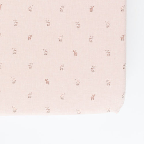 Hatchlings Fawn Crib Sheet (NEW Chambray organic cotton) pehr
