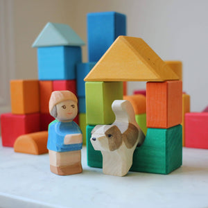 Ostheimer Mo and Dog with Gluckskafer Blocks Geometric Shapes in action
