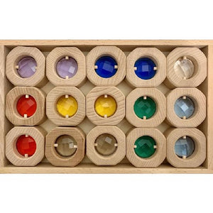 Papoose -  Coins Window Rainbow Set 15 pcs