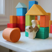 Load image into Gallery viewer, Gluckskafer Blocks Geometric Shapes as dog house