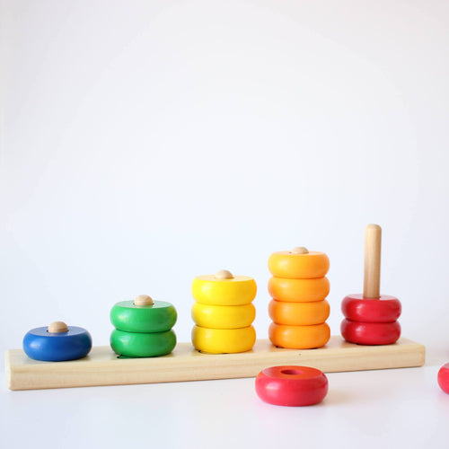 Goki - Learn to count with wooden rings