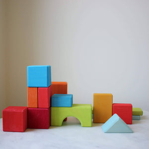 Some pieces from Gluckskafer Blocks Geometric Shapes