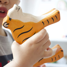 Load image into Gallery viewer, holztiger tiger in toddler's hand