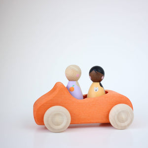 another set of lil peeps in the grimms orange convertible.