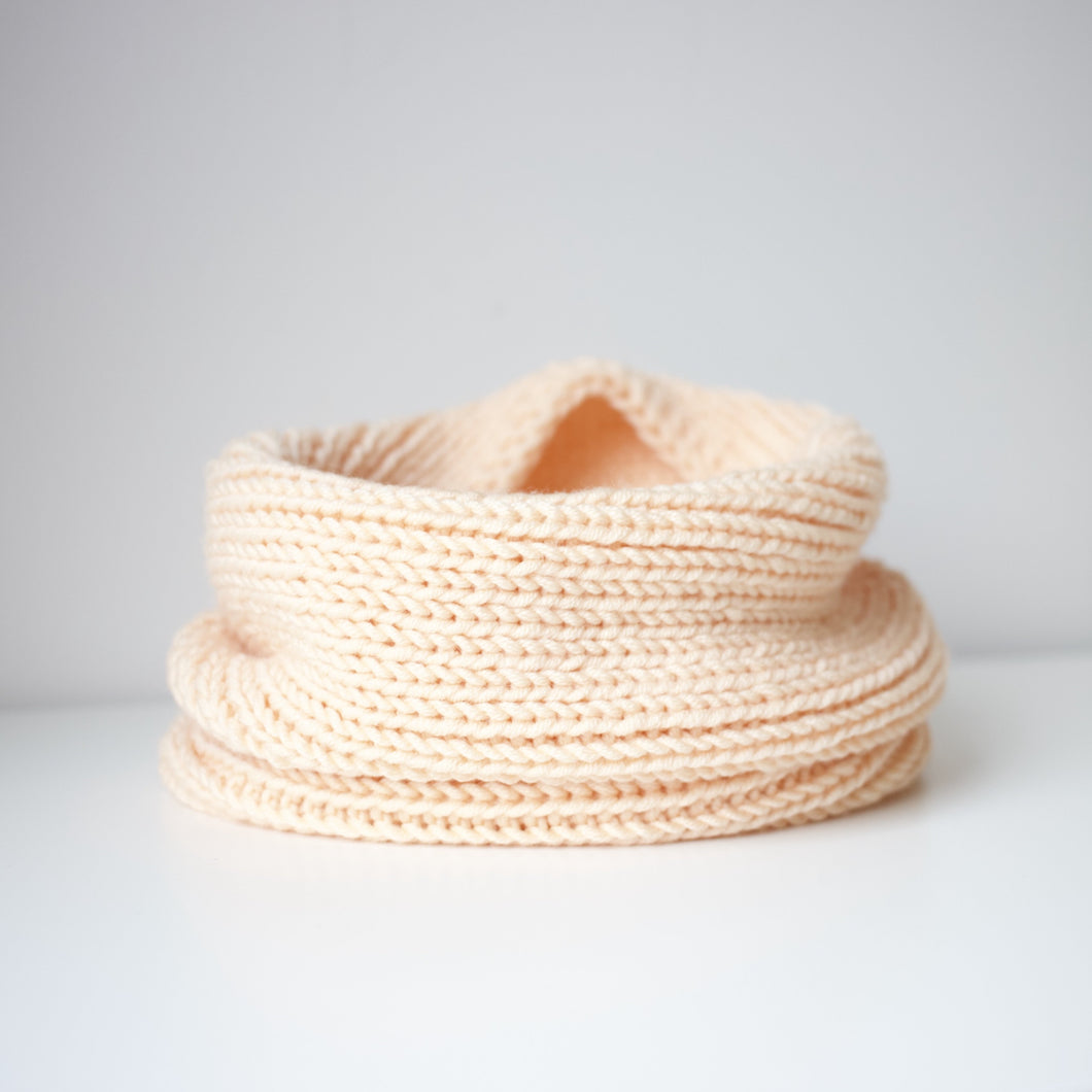 Toddler infinity scarf in delicate peach