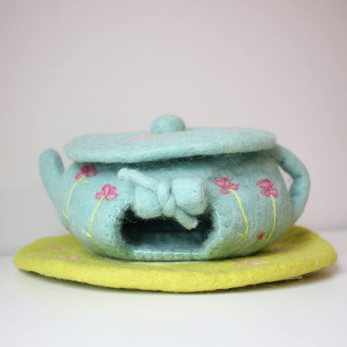 Papoose - Fairy Teapot House With Mat