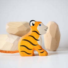 Load image into Gallery viewer, Holztiger - Tiger, Small, Sitting
