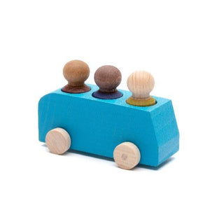 Lubulona - Bus Turquoise with 3 Figures