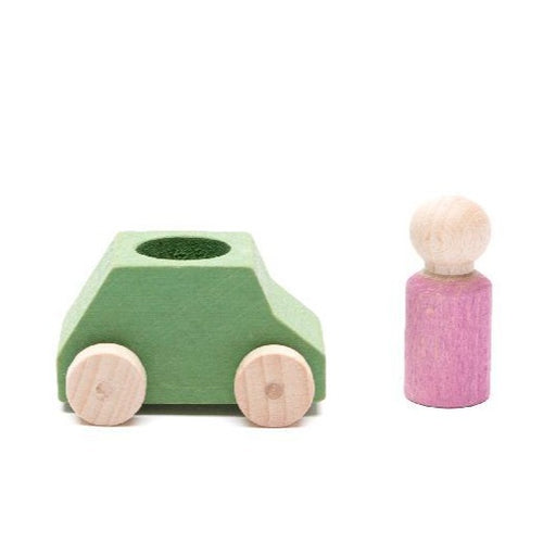 Lubulona - Car Mint with Pink Figure