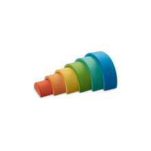 Load image into Gallery viewer, Ocamora rainbow stacker - blue 6 pieces