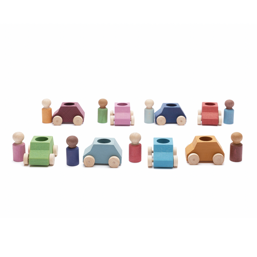 Lubulona - Cars 8 pack with 8 figures