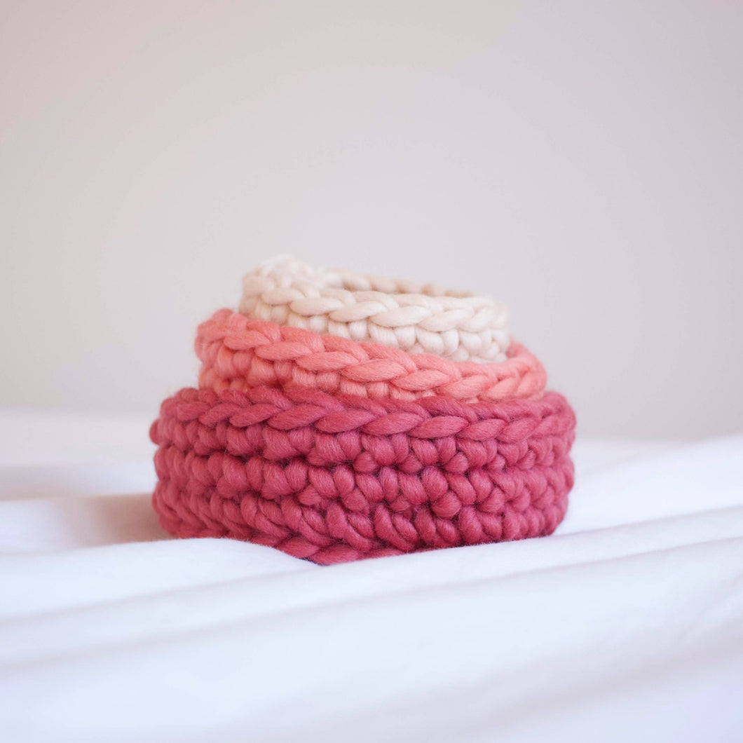Small Nesting Stacking Bowls in Lollipop