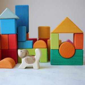 Blocks Geometric Shapes By Gluckskafer with Ostheimer Dog (not included)