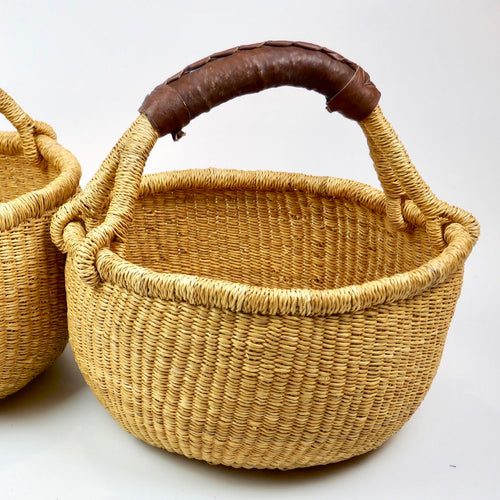 Kid Sized Bolga Basket - Natural