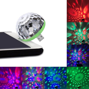 USB Party Lights Mini Disco Ball (50% Off Halloween Sale)