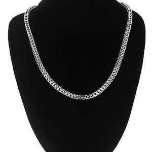 "White Gold Mens Franco Chain 26"" 3 mm - A&M"