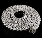 15mm 14K White Gold Iced Out Cuban Chain *LIMITED TIME OFFER PRICE