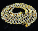 15mm 14K Gold Iced Out Cuban Chain *TODAY ONLY OFFER*