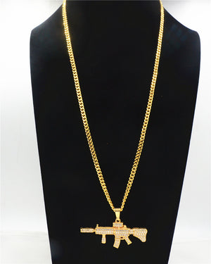 AK47 Gun Pendant & Necklace *NEW*