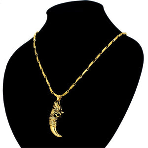 Wolf Tooth  Necklace & Pendant - a-m-clothing-shoppe