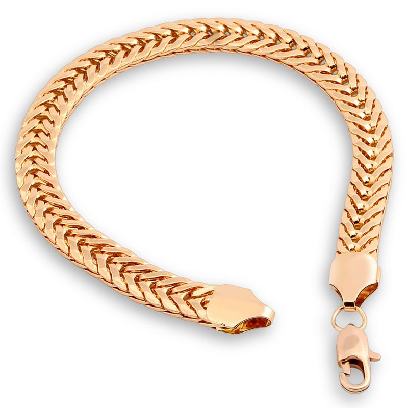 Cuban Link Snake Chain Hand Bracelet Gold *NEW*