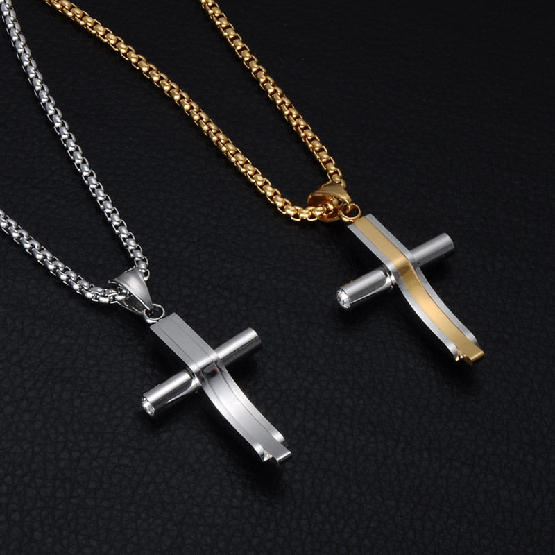 Two Tone Cross Pendant *NEW*-A&M