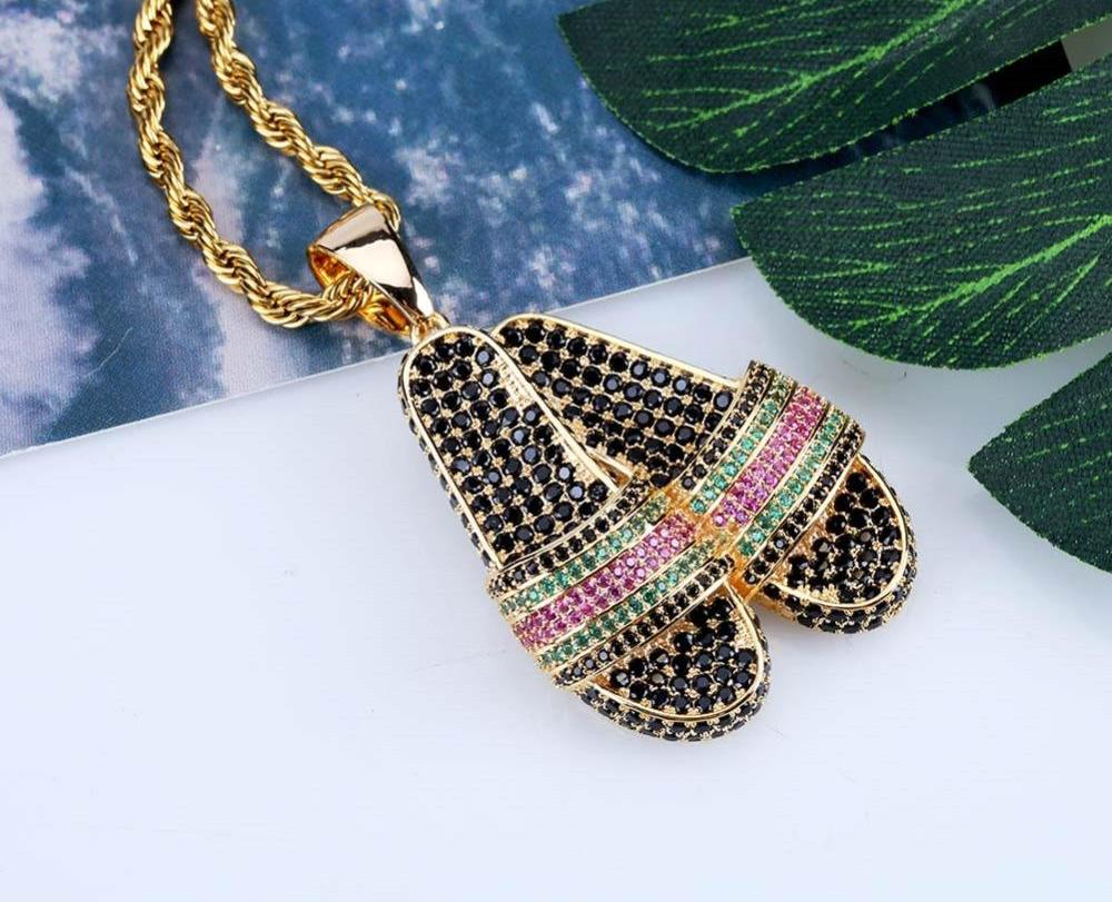 *New* Slippers Hip Hop Pendant-A&M