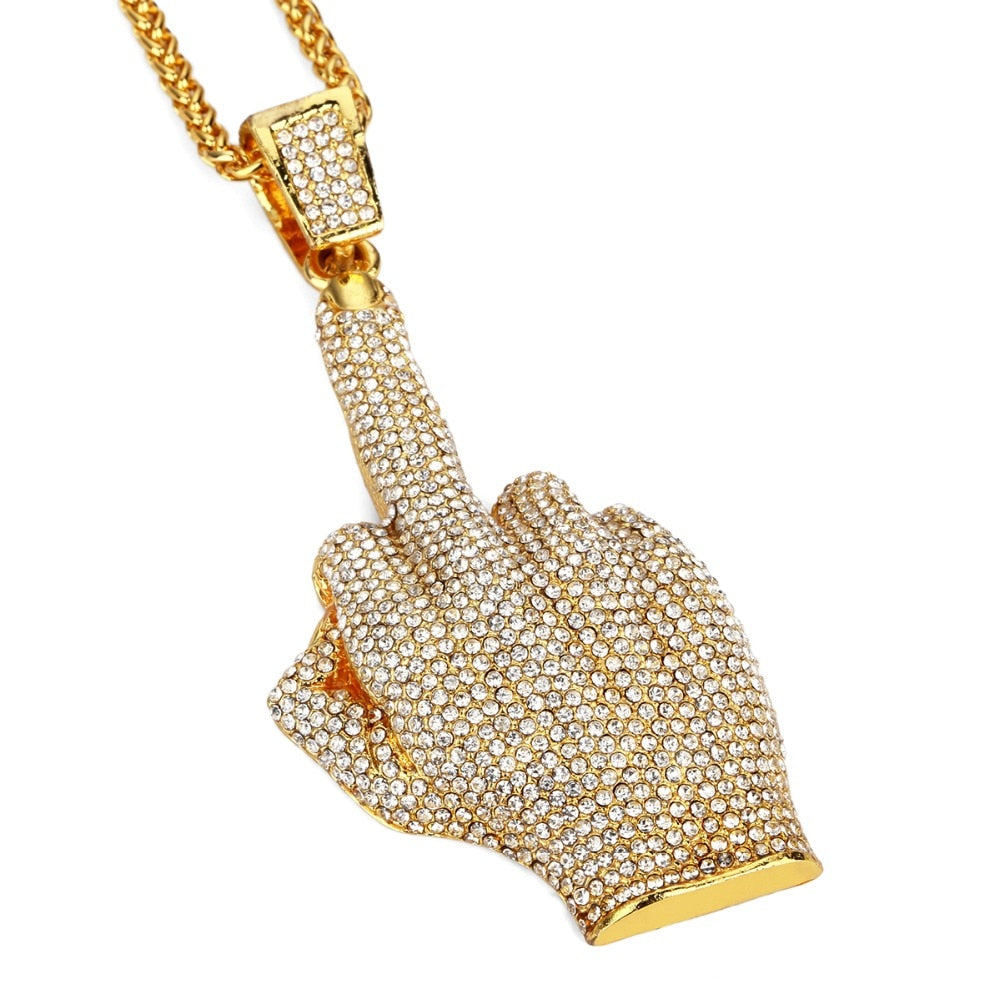 Middle Finger Pendant & Necklace *NEW*