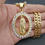 Big Virgin Mary Necklace & Pendant *NEW* - a-m-clothing-shoppe