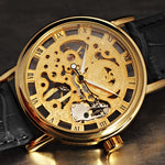 Gorgeous Ultra-thin Gold Hollow Carve Dial Luxury Mechanical Clock Watch *NEW*