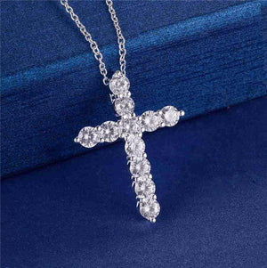 Iced Out CZ Cross Pendant & Necklace *NEW*