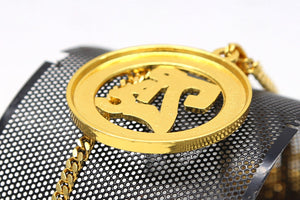 Mens Gold Ice Out BIG 2pac Meddalion Tupac Rapper Pendant Rhinestone 27.5 inch Cuban Chain Bling Necklace