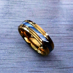 Luxury Style Gold silver Ring Mens *NEW*