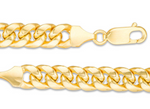 Men's 7.4mm Cuban Curb Chain Necklace in 10K Gold - 22""