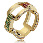 Men's Hip Hop CZ Jewelry Ring *NEW*